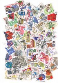 100 different Czechoslovakia large packet